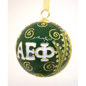 AEPhi Round Color Ornament