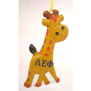 AEPhi Giraffe Ornament