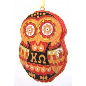 ChiO Owl Ornament