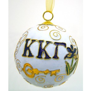 KKG Round Wt Ornament