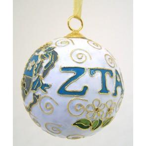 ZTA Round Wt Ornament