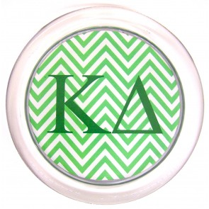 KD Decoupage Coaster - Green Chevron