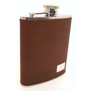 dark brown flask