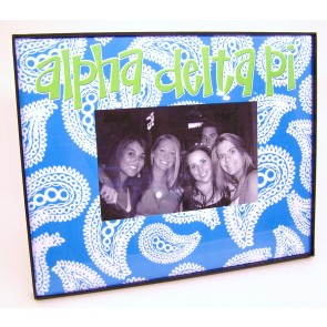 Paisley Picture Frame - Alpha Delta Pi
