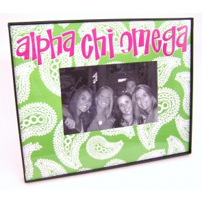 Paisley Picture Frame - Alpha Chi Omega