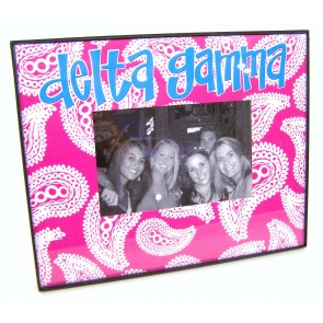 Paisley Picture Frame - Delta Gamma