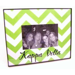 Chevron Picture Frame - Kappa Delta