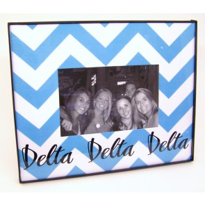 Chevron Picture Frame - Delta Delta Delta