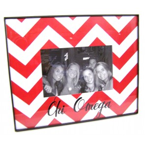 Chevron Picture Frame - Chi Omega