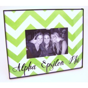 Chevron Picture Frame - Alpha Epsilon Phi