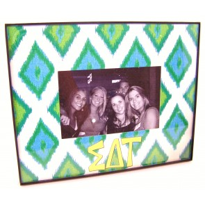 Ikat Picture Frame - Sigma Delta Tau