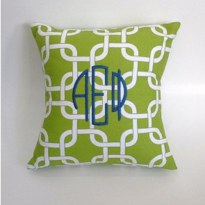 Alpha Epsilon Phi Monogram Throw Pillow
