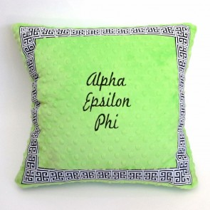 Alpha Epsilon Phi Minky Dot Pillow