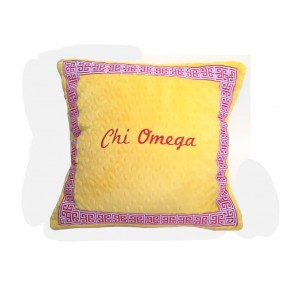 Chi Omega Super Soft Minky Dot Pillow