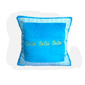 Delta Delta Delta Super Soft Minky Dot Pillow