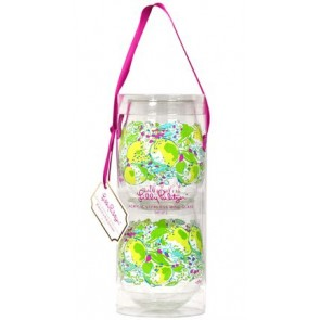 Lilly Pulitzer Pink Lemonade Stemless Wine Glasses