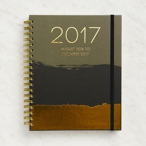 Large Dip Dye Weekly Spiral Planner 2016-2017