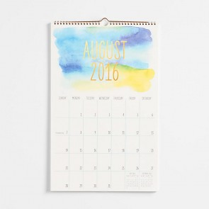 2016-2017 Watercolor Calendar w/Foil