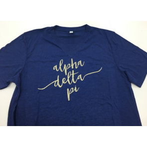 Sorority Script Fashion Tee - Alpha Delta Pi