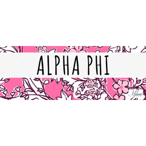 Alpha Phi Lilly Pulitzer Cover Photo