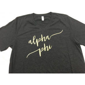 Sorority Script Fashion Tee - Alpha Phi