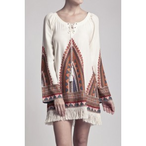 Tribal Tassel Dress