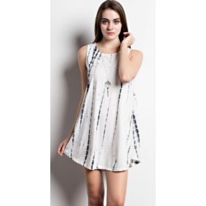 Ivory Tie Dye Swing Dress