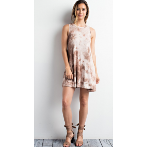 Camel Tie Dye Swing Dress