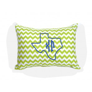 Chi Omega Texas Monogram Chevron Travel Pillow