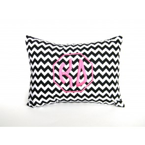 Kappa Delta Monogram Chevron Travel Pillow