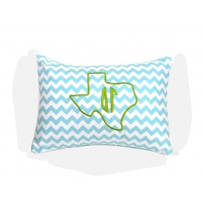 Delta Gamma Texas Monogram Chevron Travel Pillow