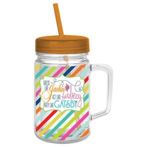Party Like Gatsby Acrylic Mason Jar
