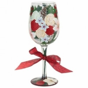 Holiday Bouquet Wine Glass