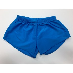 Neon Blue Nylon Shorts