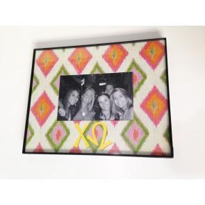 Ikat Picture Frame - Chi Omega