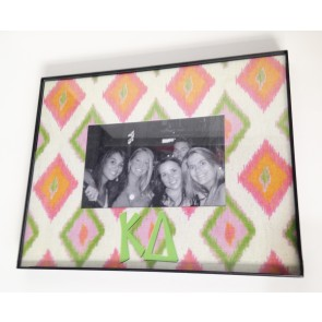 Ikat Picture Frame - Kappa Delta