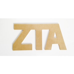 Zeta Tau Alpha Wall Letters