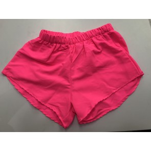 Neon Pink Nylon Shorts
