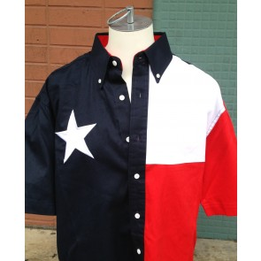 Texas Flag Short-Sleeve Button Down