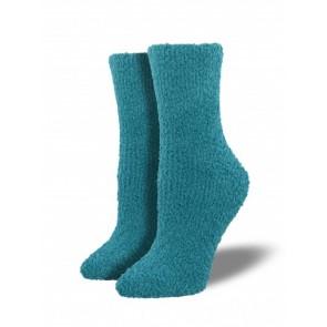 Warm & Fuzzy Turquoise Socks