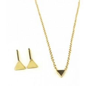 Tri Me Earring & Necklace Set