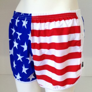 US Flag Running Shorts