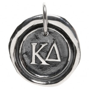 Waxing Poetic Sorority Charm - Kappa Delta