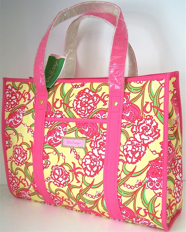 1f5d8adcf9fe62 Chi Omega Lilly Pulitzer Tote Bag Sorority Print - Melissa's Custom ...
