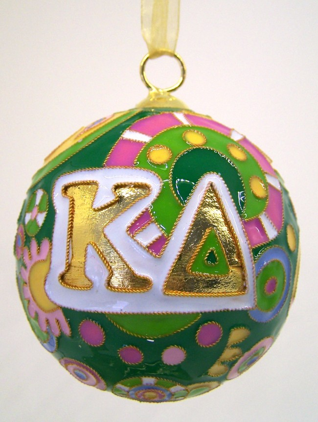 KD Cloisonne Sorority Christmas Ornament Fun Bright - Melissa\'s ...