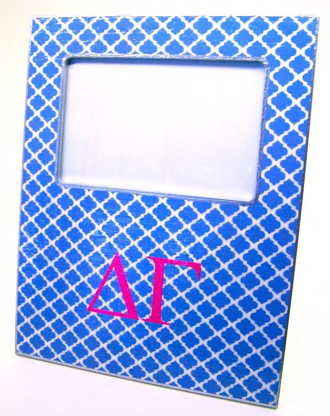 DG Decoupage Picture Frame , Blue Trellis