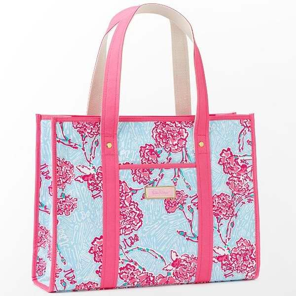 1c26c013148562 Pi Phi Lilly Pulitzer Tote Bag Sorority Print - Melissa's Custom Gifts