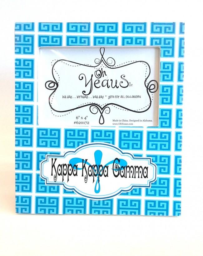 Trendy Sorority Picture Frame Kappa Kappa Gamma Melissas Custom Gifts