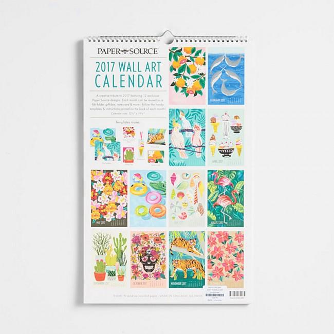 2017 Wall Art Calendar - Melissa\'s Custom Gifts