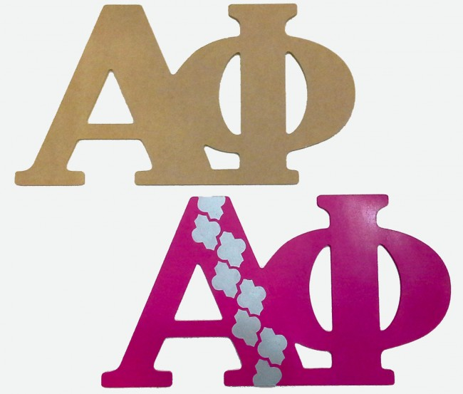 alpha phi wall letters